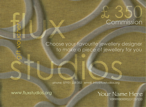 Flux Studios Jewellery Commision Voucher