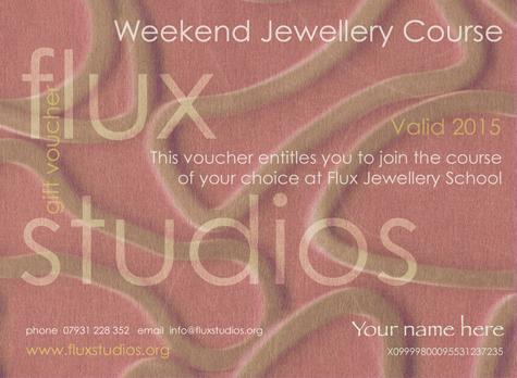 Weekend Jewellery Course Voucher for Flux Jewellery School