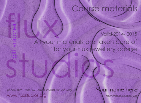 Jewellery Materials Voucher for Flux Jewellery School courses