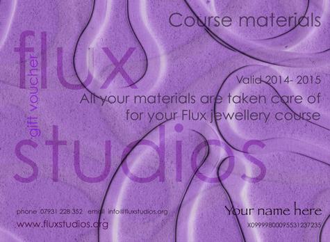 Jewellery Materials Voucher for Flux Jewellery School courses