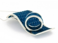 Julia Toledo blue pendant and ring