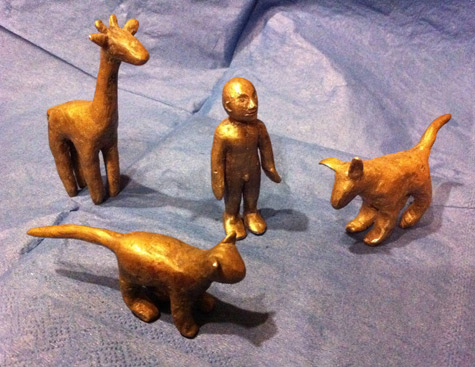 Miniature bronzes by Vicky Forrester