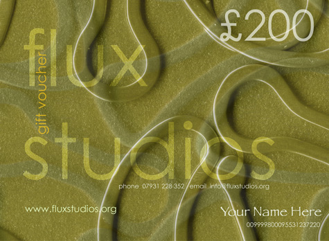 Flux Studios Voucher available to any value you choose