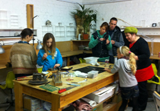 Flux Family workshops - hard to get them to stay still for a photo!