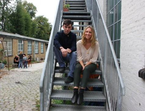 Imogen Belfield and Kyle Hopkins at Flux Studios