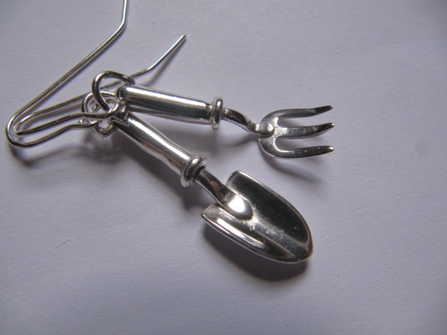 trowel and fork earrings