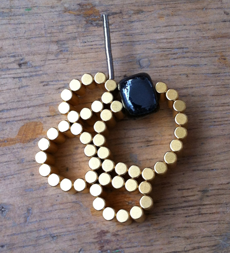 innovative approaches to jewellery making at Flux Studios - using magnets to create beautiful wearables. Rare earth magnets, haematite, steel bar