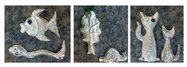 family workshop in cuttlefish casting with pewter at Flux Studios