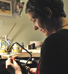 Henrietta Fernandez, contemporary jeweller and tutor at Flux Studios