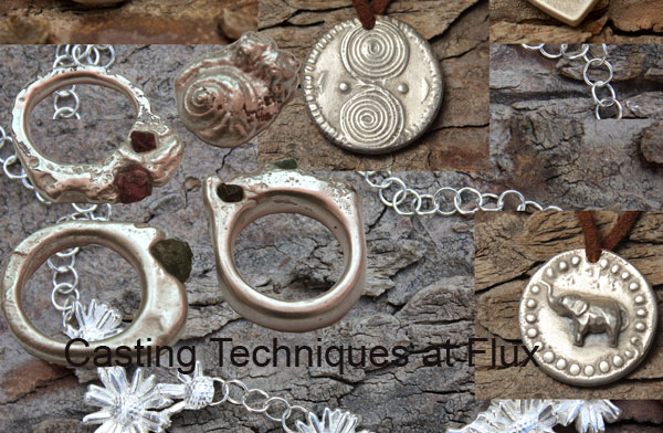 We teach a wide range of casting techniques for jewellery here at Flux Studios