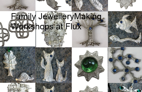 Family workshops in jewellery and metalwork at Flux Studios