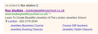 Google advert by LJS showing they have been stealing our reputation and our business