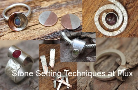 Jewellery Courses in London - stone setting at Flux Studios