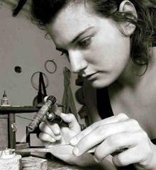 Barbora Rybarova, Contemporary jeweller and tutor at Flux Studios