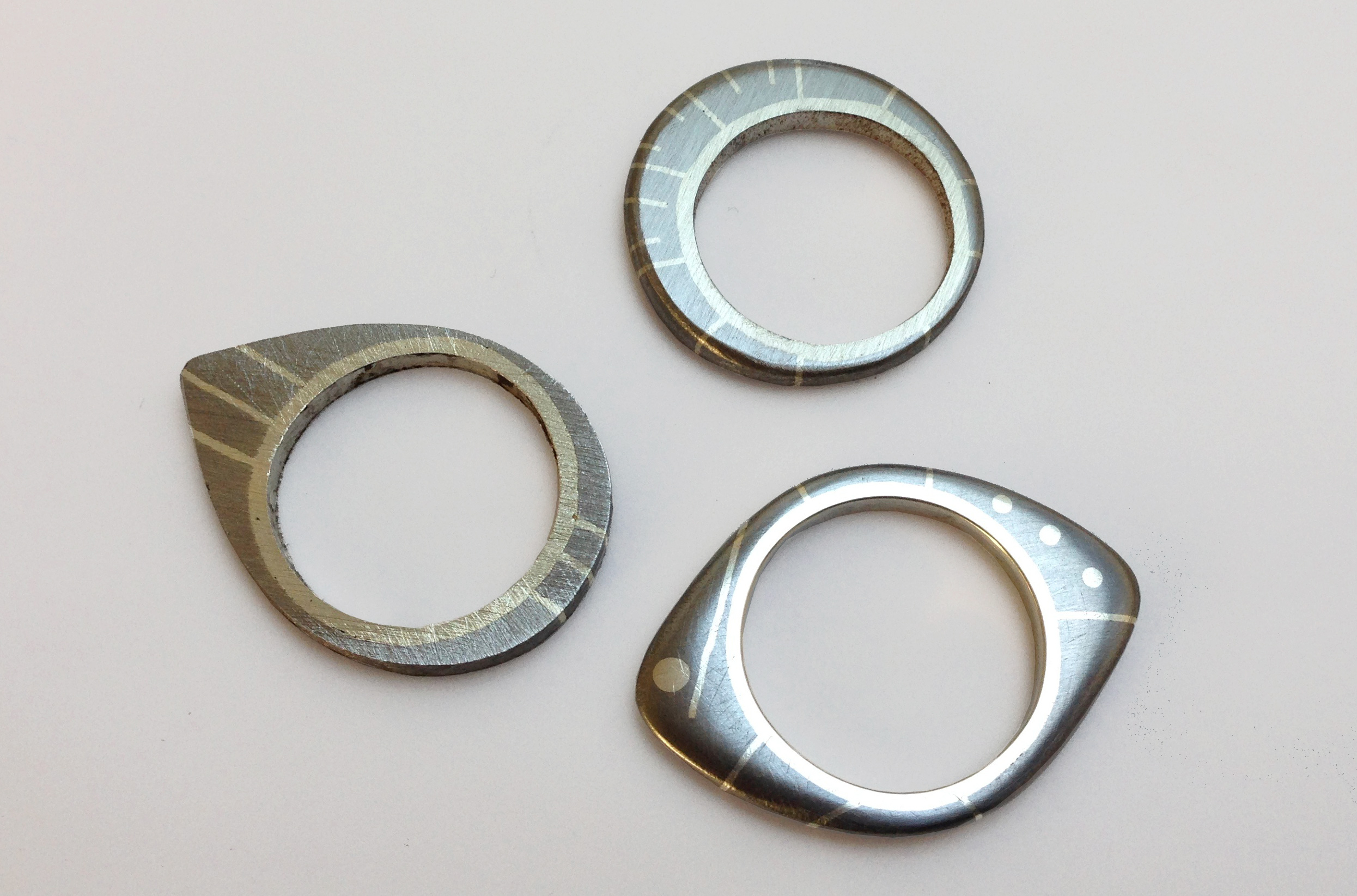 married metals technique showing steel and silver combinations