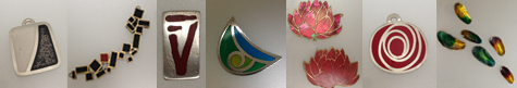 cold enamel samples for flux jewellery classes