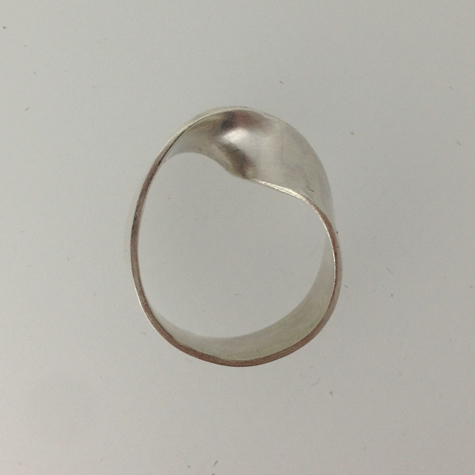 Mobius Ring in sterling silver by flux student Abigail