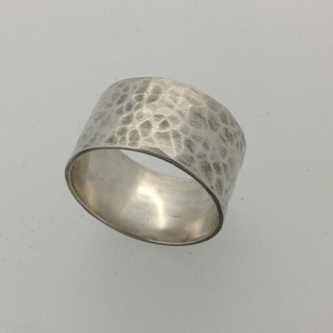 Sterling silver ring by Chris at SW10 weekend jewellery making workshop