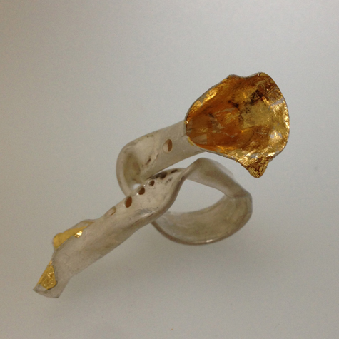 Sculptural ring with Keum Boo