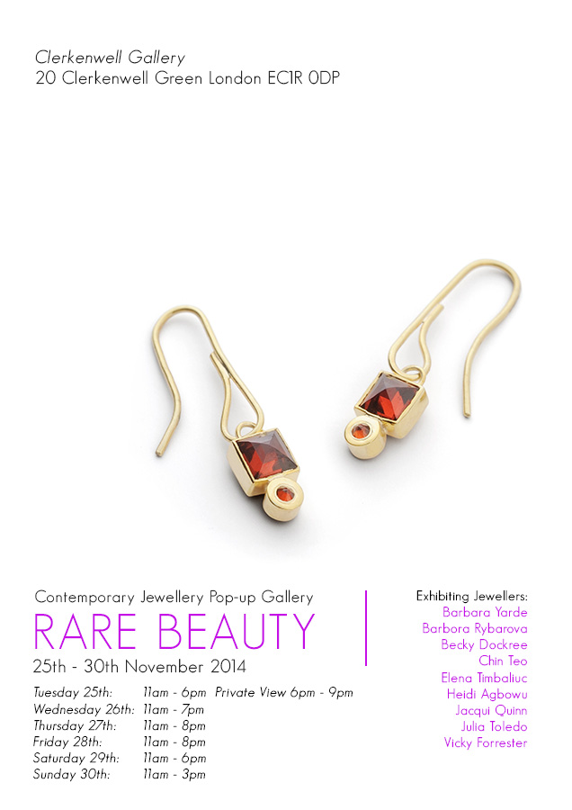 Barbara Yarde, Rare Beauty IV, contemporary jewellery by jewellers at Flux Studios