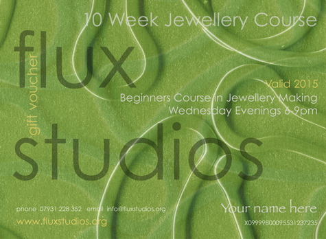 Flux Jewellery School Voucher for a 10 week jewellery course