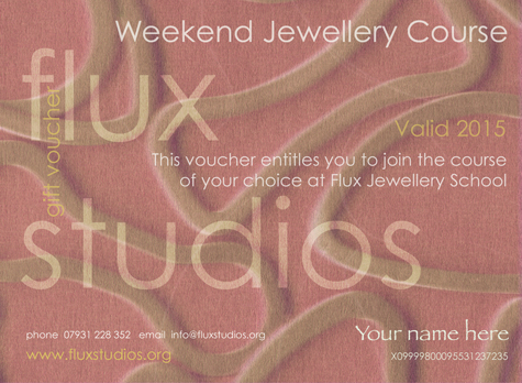 Why not purchase a weekend jewellery course at Flux Jewellery School to treat friend or colleague to an unforgettable experience