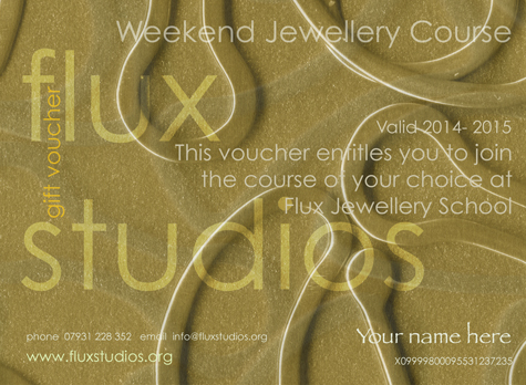 purchase a voucher for flux jewellery school courses