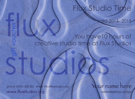Flux Jewellery Voucher - Why not purchase a Flux studio time voucher to treat friend or colleague to an unforgettable experience