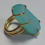 Drusy ring by Flux student Lynn Allardyce, Inspired entry for 2015