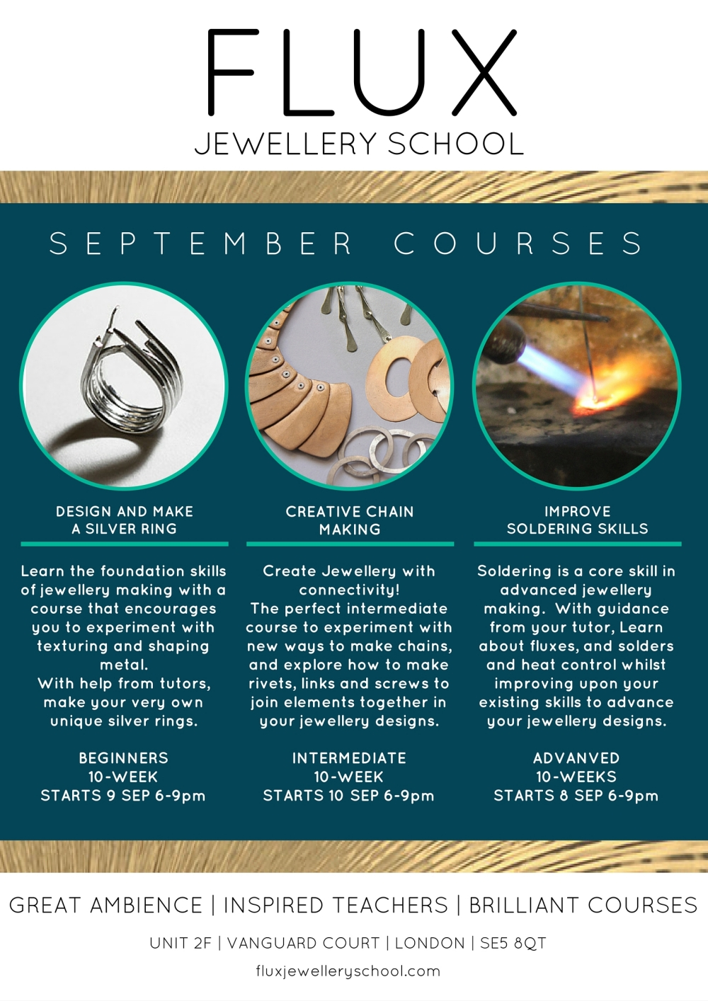 Jewellery courses starting in London for september 2015