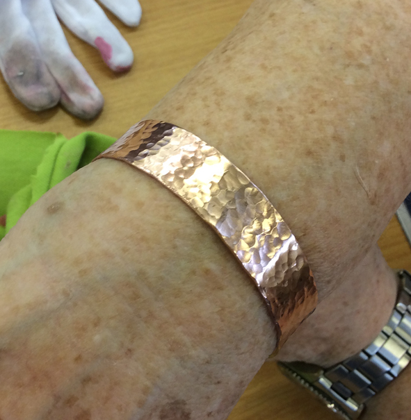 Copper cuff made by local Camberwell resident.