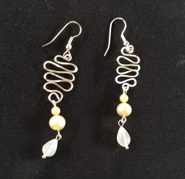 How to make a pair of wire and bead earrings