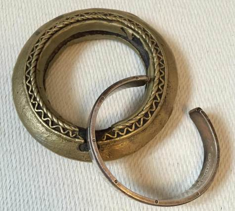 are these bracelets made from gold and silver or brass and plate?