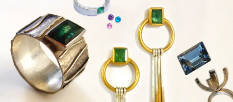 Round and oval stone settings; settings for emerald cut, trillion Pear and marquis shaped stones