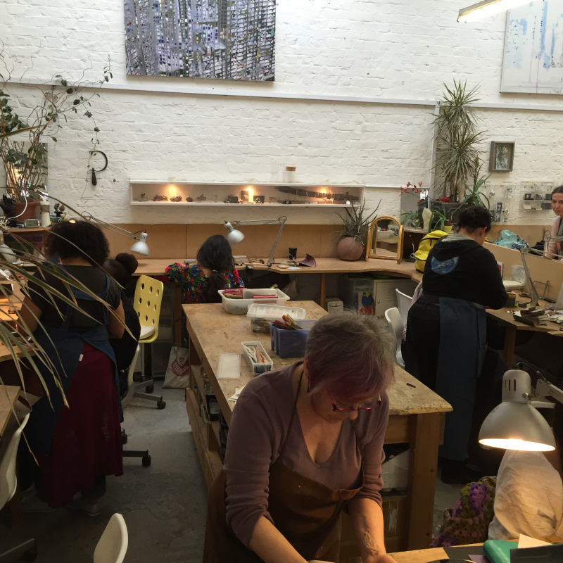 Jewellery students take over Flux Studios for a weekend of making