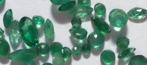 Emeralds come in all cuts and qualities.