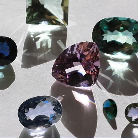 Amethyst, prasiolite, iolite, sapphire, topaz, tanzanite