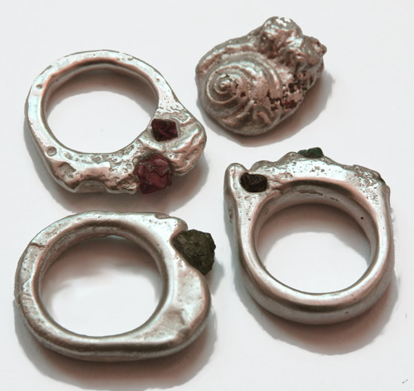 delft cast silver rings with stones