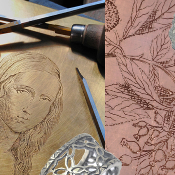 examples of decorative hand engraving on copper and brass sheet