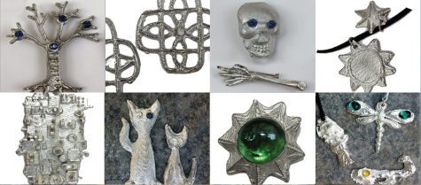 Examples of items made by children and adults on the pewter casting family workshop
