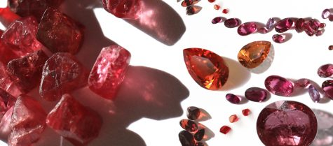 Ruby, Sapphire, Garnet, Carnelian, Citrine, Fire Opal, Quartz, Amber - Plush pinks and Radiant Reds (PR1) – gemmology and stone setting