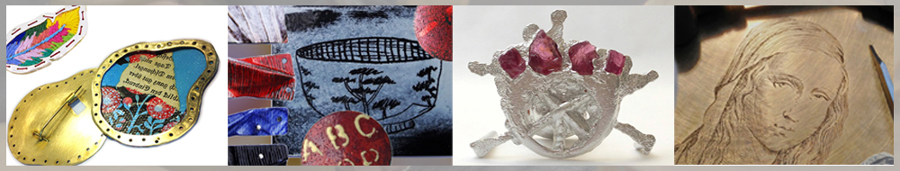 Spring 2017 short courses at Flux. engraving, enamelling, casting, cold connections.